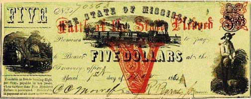 1862 Mississippi $5