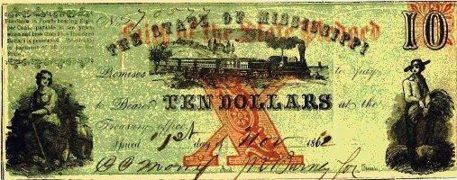 1862 Mississippi $10