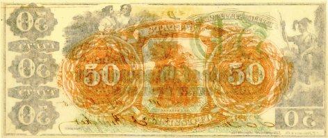 1865 Mississippi $50 (reverse)