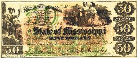 1865 Mississippi $50