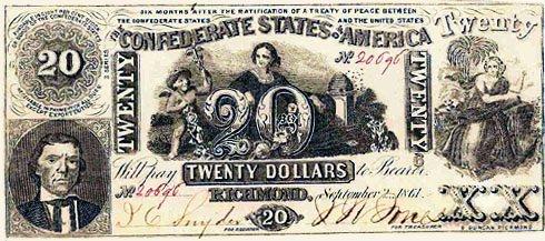 1861 Confederate $20