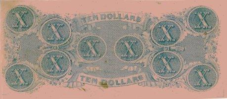 1862 Confederate $10 (reverse)