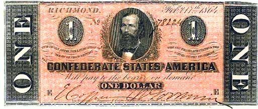 1864 Confederate $1