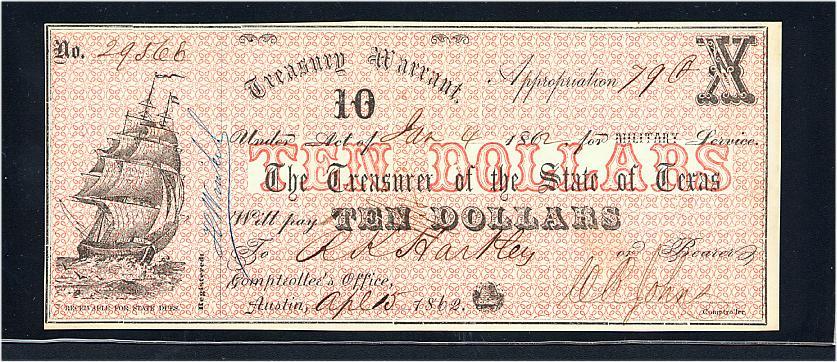 1862 Texas $10