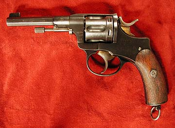 Swedish Model 1887 Nagant revolver, left side
