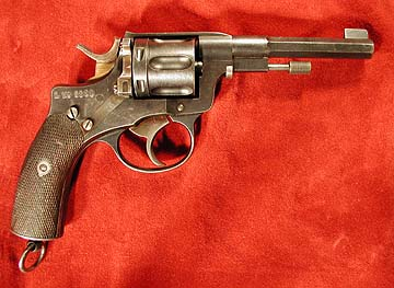 Swedish Model 1887 Nagant revolver, right side