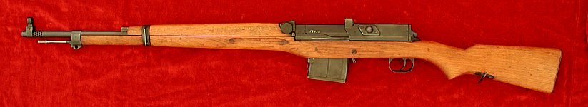 Swedish AG42b Ljungmann rifle, left side