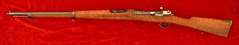 Swedish M1896 Mauser rifle, left side