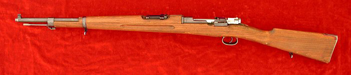 Swedish M1938 Mauser rifle, left side