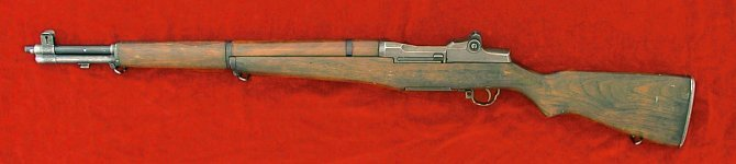 US M1 Garand rifle, left side