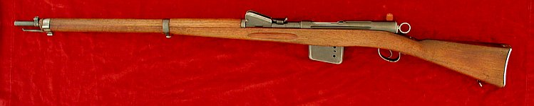 Swiss Schmidt Rubin M1889 rifle, left side