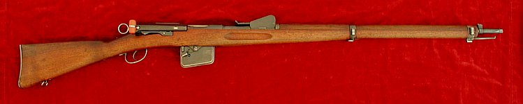 Swiss Schmidt Rubin M1889 rifle, right side