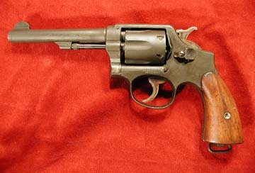 Smith & Wesson Victory Model revolver, left side