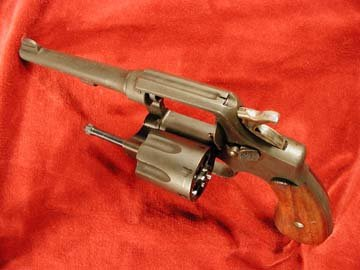 Smith & Wesson Victory Model revolver, open