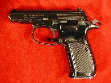 CZ vz. 82 pistol, left side