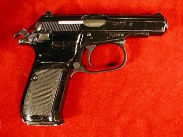 CZ vz. 82 pistol, right side